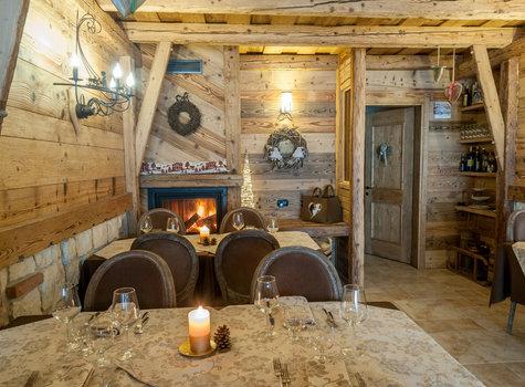 Sala da pranzo lume di candela